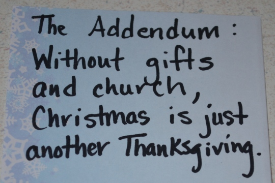 No offense to Thanksgiving, of course...