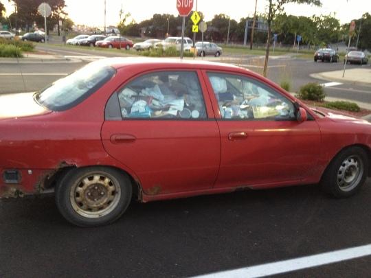 trash car